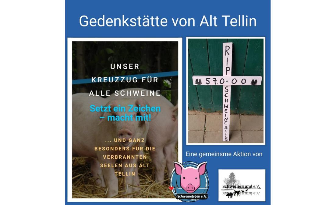 Gedenkstätte für die verbrannten Schweineseelen von Alt Tellin