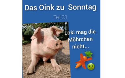 Das Oink zum Sonntag (Teil 23) – Loki mag keine Möhren von Conny Unterberg